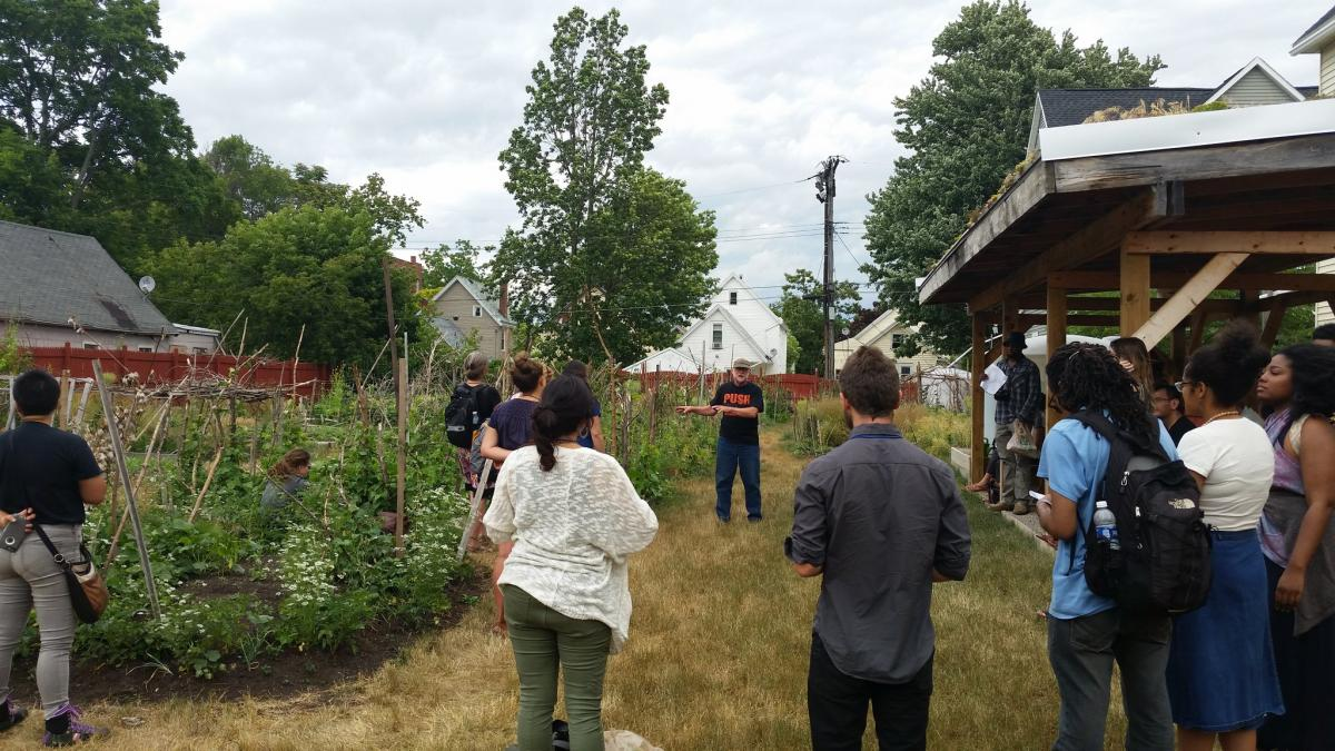 PUSH Buffalo community garden tour