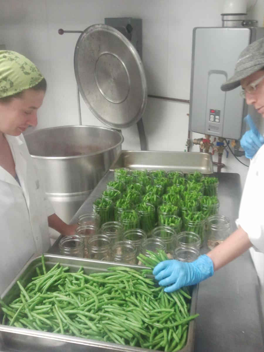 Dilly beans are one of the many seasonal products made by Vermont Bean Crafters. Photo courtesy of Vermont Bean Crafters