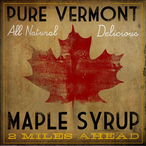 maple leaf, Pure Vermont Maple Syrup All Natural Delicious 2 miles ahead