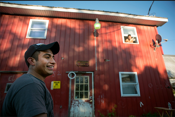 Dairy worker Victor Diaz in Burlington, Vermont. Photo Credit: Caleb Kenna, New York Times