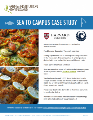 Harvard University Sea to Campus Case Study