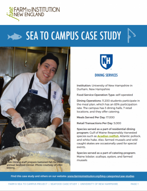 UNH Sea to Campus Case Study